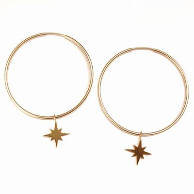Gold-Filled Starburst Hoop Earrings/Nikki Smith Designs