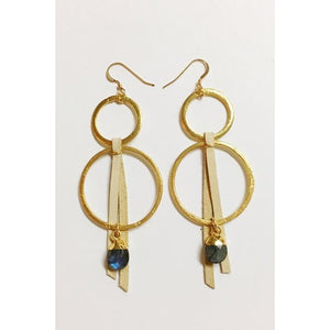 Gold Vermeil Earrings/Leslie de la Mora