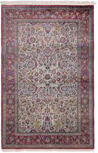 Antique Persian Kashan Mohtasham 200x130cm