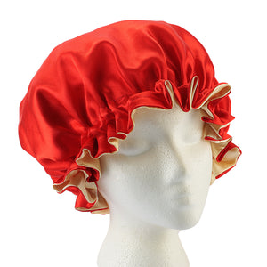 Reversible Satin Caps, bonnets