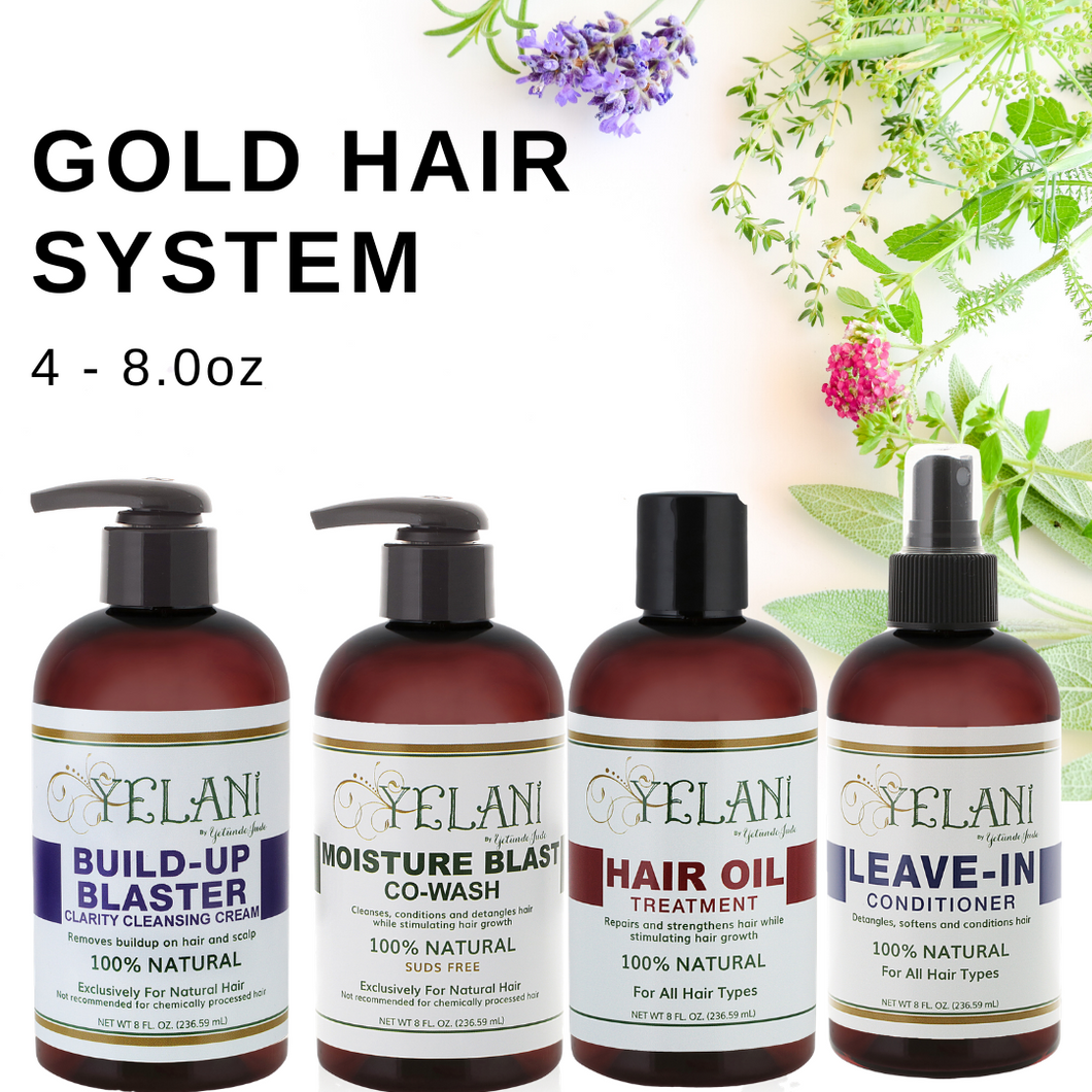YELANI  Gold HAIR SYSTEM - 4 piece 8 oz bundle