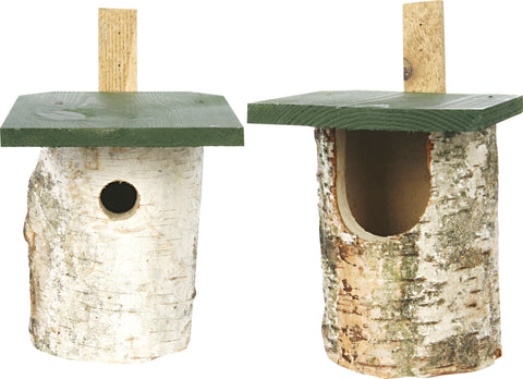 Birch Log Nest Box - Gala Wildlife