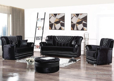 9830BK/9831BK/9832BK/9833BK Living Room Set 3PCS