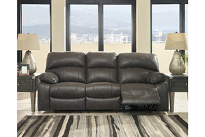 Dunwell - Steel - PWR REC Sofa with ADJ Headrest