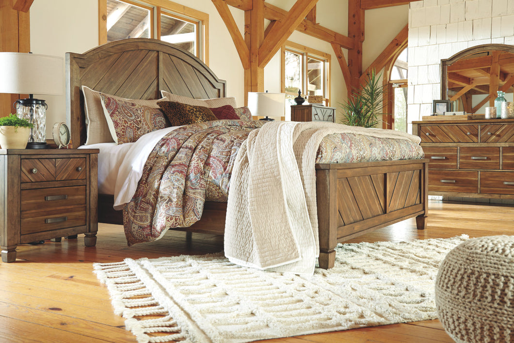 Colestad - Light Brown - California King Panel Bed