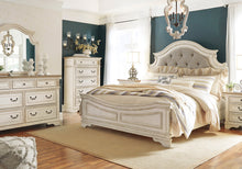 Load image into Gallery viewer, Realyn - Chipped White - Queen Upholstered Panel Bed