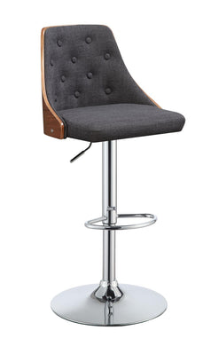 Linen/Walnut Finish Swivel Bar Stool