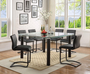 GORDIE 7pc COUNTER HEIGHT DINING, BLACK