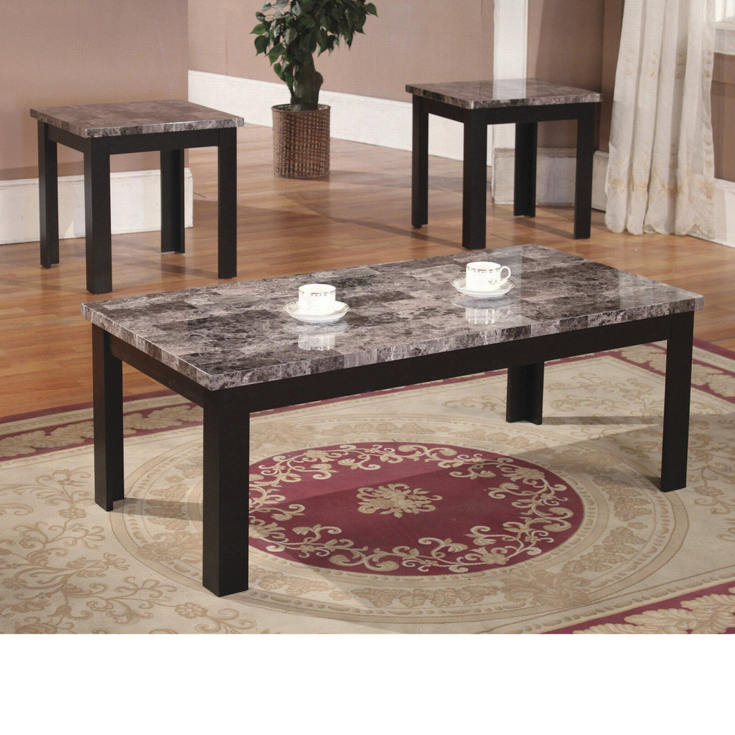 3pc table set with Faux Marble Top