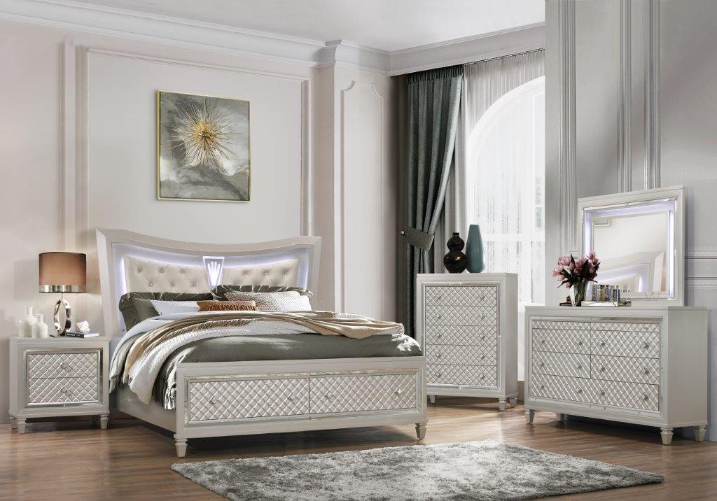 PARIS Bedroom Set 5PCS. Q.BED,DR,MR,CH,NS