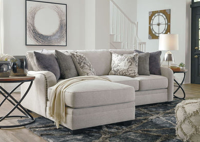 Dellara - Chalk - LAF Corner Chaise & RAF Loveseat Sectional