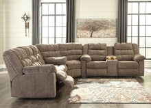 Load image into Gallery viewer, Workhorse - Cocoa - REC Sofa, Wedge & DBL REC Loveseat with Console Sectional
