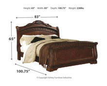 Load image into Gallery viewer, North Shore - Dark Brown - 7 Pc. - Dresser, Mirror, California King Sleigh Bed & 2 Nightstands