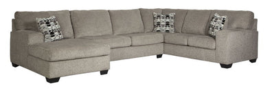 Ballinasloe - Platinum - LAF Corner Chaise, Armless Loveseat & RAF Sofa Sectional