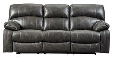 Load image into Gallery viewer, Dunwell - Steel - PWR REC Sofa with ADJ Headrest