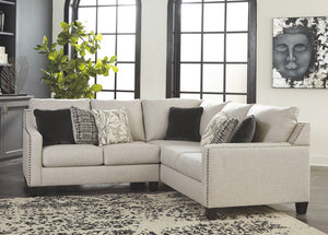 Hallenberg - Fog - LAF Loveseat & RAF Sofa with Corner Wedge Sectional
