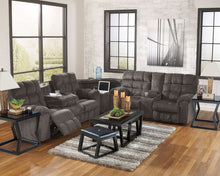 Load image into Gallery viewer, Acieona - Slate - REC Sofa with Drop Down Table, Wedge & DBL Rec Loveseat with Console Sectional