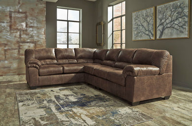 Bladen - Coffee - LAF Sofa, Armless Chair & RAF Loveseat Sectional