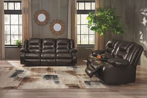 Vacherie - Chocolate - REC Sofa & DBL REC Loveseat with Console (2 Colors Available)