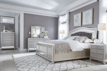Load image into Gallery viewer, Coralayne - Silver - 7 Pc. - Dresser, Mirror, Queen UPH Panel Bed & 2 Nightstands