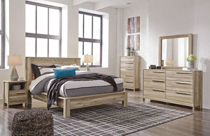 Kianni - Taupe - 5 Pcs. - Dresser, Mirror, Queen Panel Bed   LAST ONE  FLOOR SAMP.