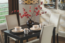Load image into Gallery viewer, Kimonte - Dark Brown - 5 Pc. - RECT DRM Table, 2 Ivory UPH Side Chairs & 2 Brown UPH Side Chairs
