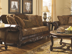Fresco - Antique - Sofa & Loveseat