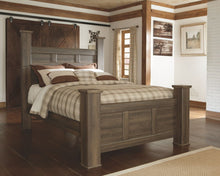 Load image into Gallery viewer, Juararo - Dark Brown - 7 Pc. - Dresser, Mirror, Queen Poster Bed & 2 Nightstands
