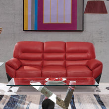 Load image into Gallery viewer, Red & Black Sofa