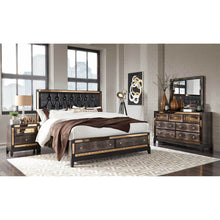 Load image into Gallery viewer, MIRROR CHOCOLATE Bedroom Set
