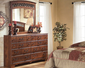 TIMBERLINE - WARM BROWN - DRESSER & MIRROR