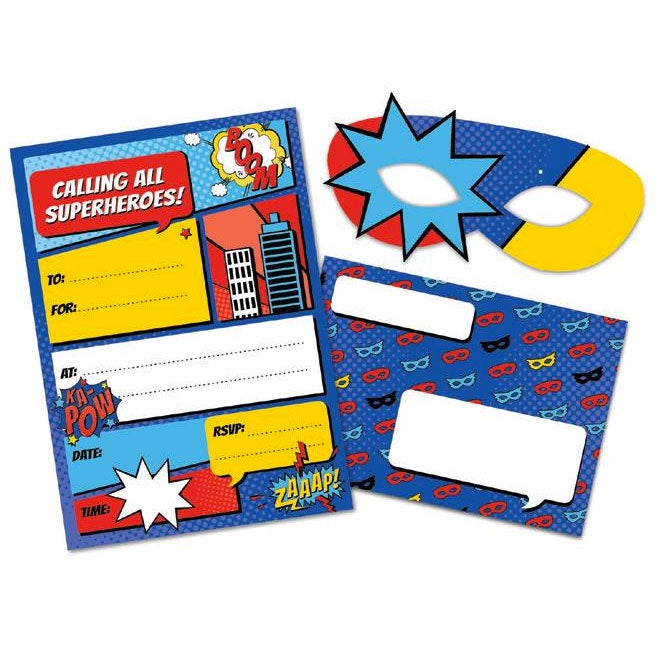 Birthday Invitations | Superheros