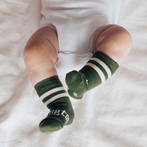 Lamington | Sage - Crew Length Merino Socks