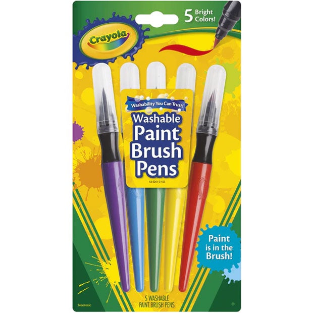 Crayola | Washable Paint Brush Pens - 5 Pack