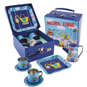 Floss & Rock | 7 Piece Tin Tea Set - Construction