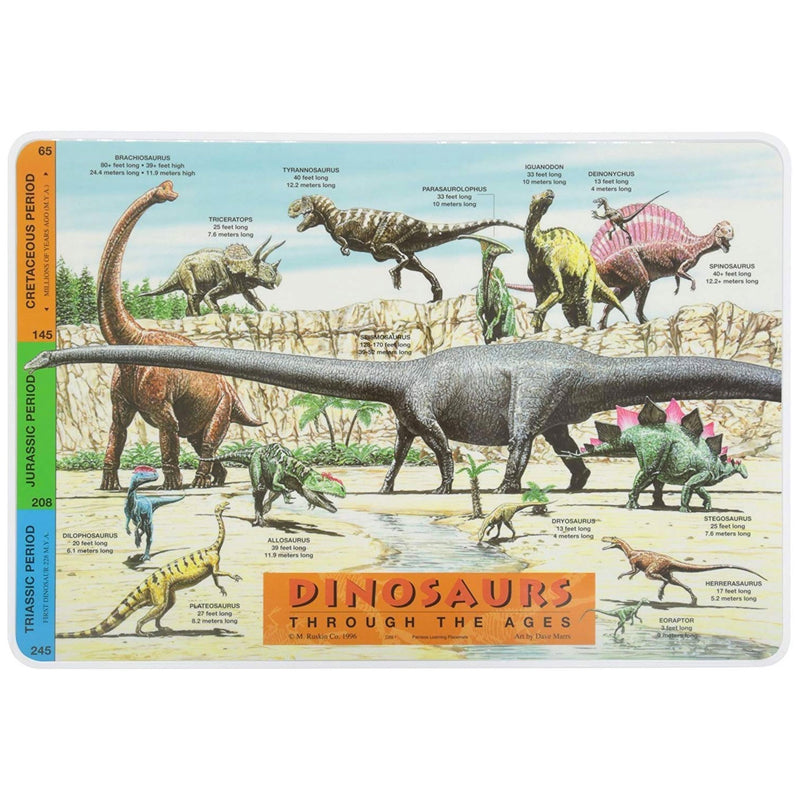 Learning Placemats | Dinosaurs Through The Ages
