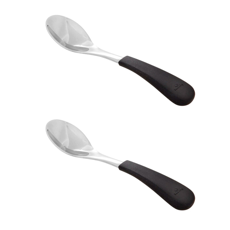 Avanchy | Stainless Steel & Silicone Spoon 2 Pack - Black