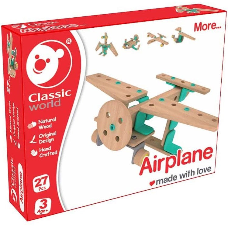 Classic World | Airplane 27 Piece Building Set