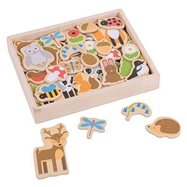Big Jigs | Wooden Magnets - Woodland
