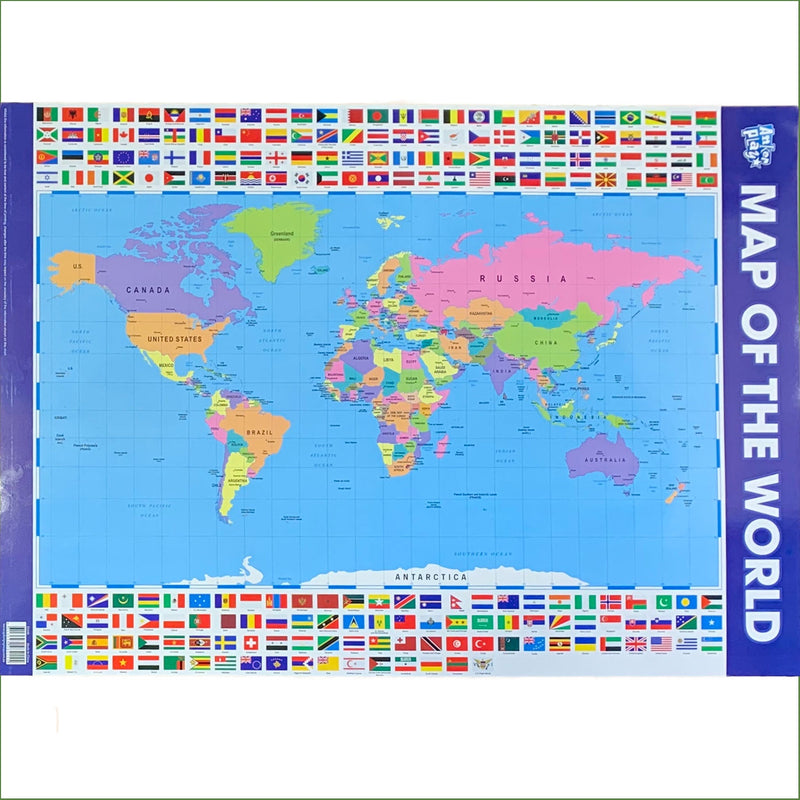 Anker Play | Educational Poster - Map of the World