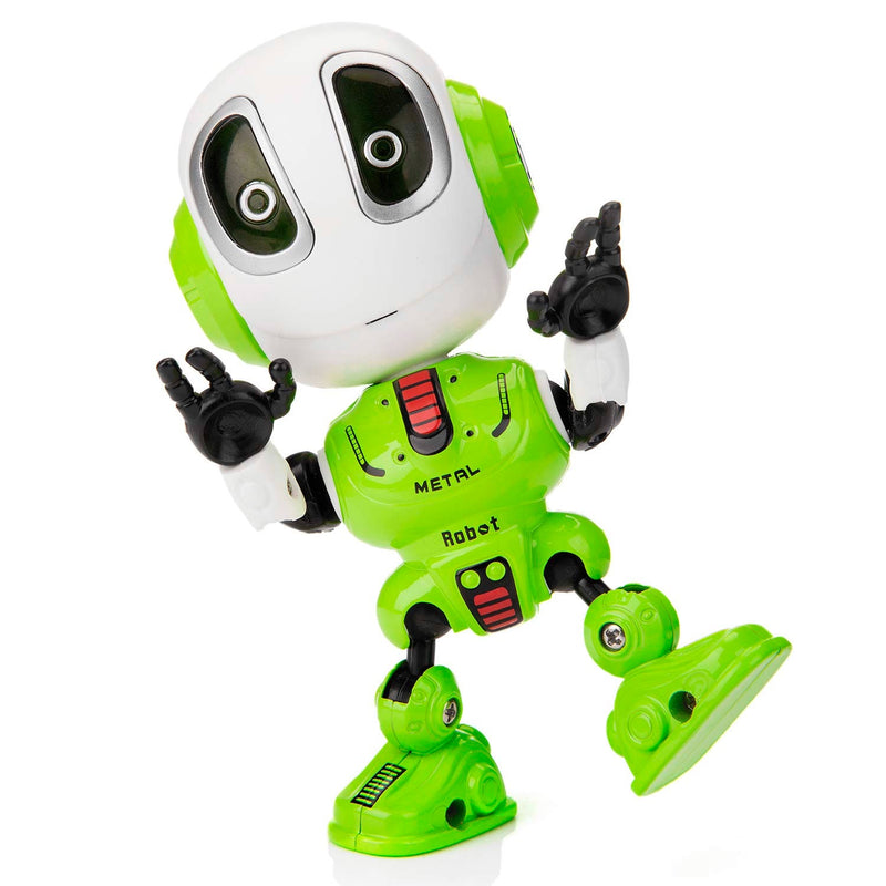 Diecast Recording Robot - Lime Green