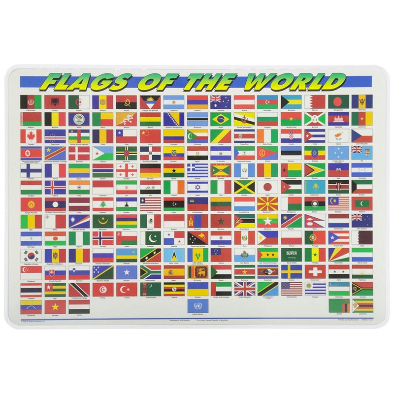 Learning Placemats | Flags of the World