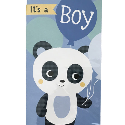 New Baby Card | It's A Boy - Blue Teddy