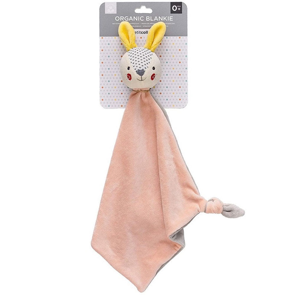 Petit Collage | Organic Blankie Bunny - Pink
