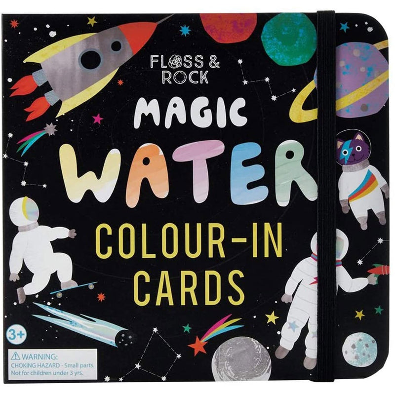 Floss & Rock | Magic Water Colour-In Cards - Space