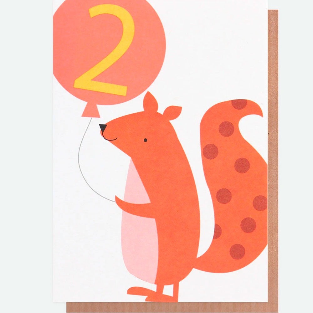 Caroline Gardner | Birthday Cards Age 2 - Squirrel