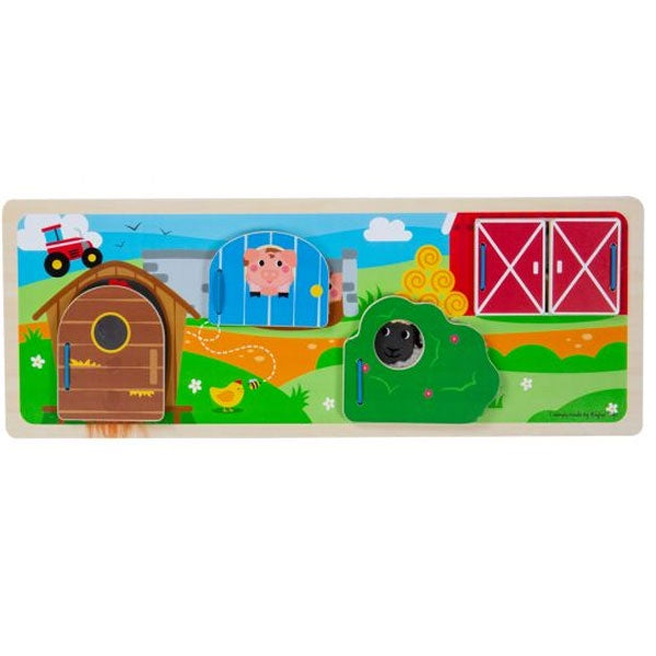 Big Jigs | Wooden Sensory Board - On The Farm