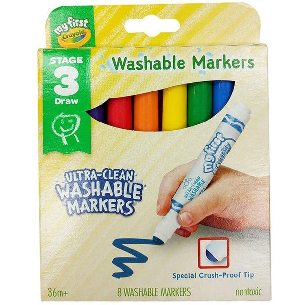 Crayola | My First Washable Markers - 8 Pack