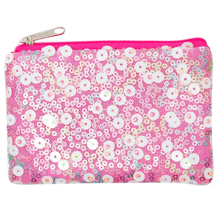 Pink Poppy | Fairy Sequin Coin Purse - Pale Pink