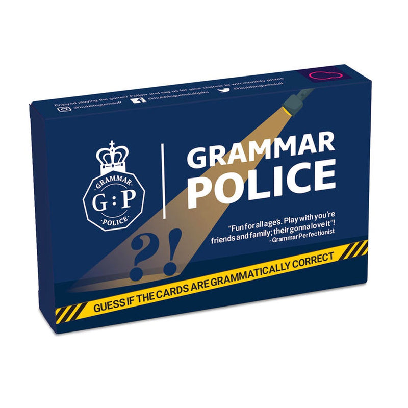 Bubblegum Stuff | Grammar Police Game